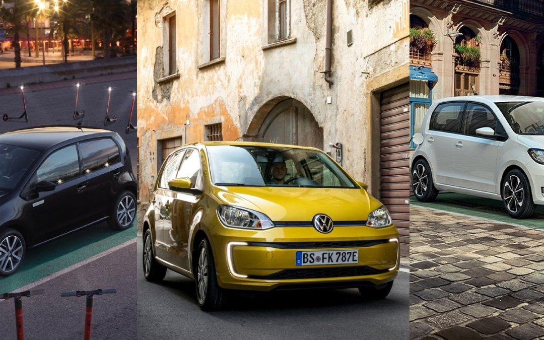 De kleine elektrische auto's van de Volkswagen Groep